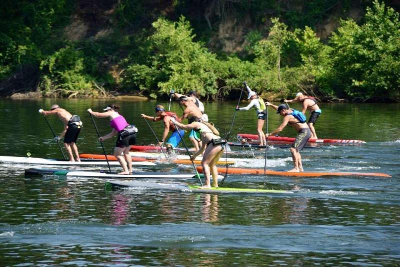 Paddle boarding on Smith Lake. Rentals at Smith Lake Paddle Boards.
