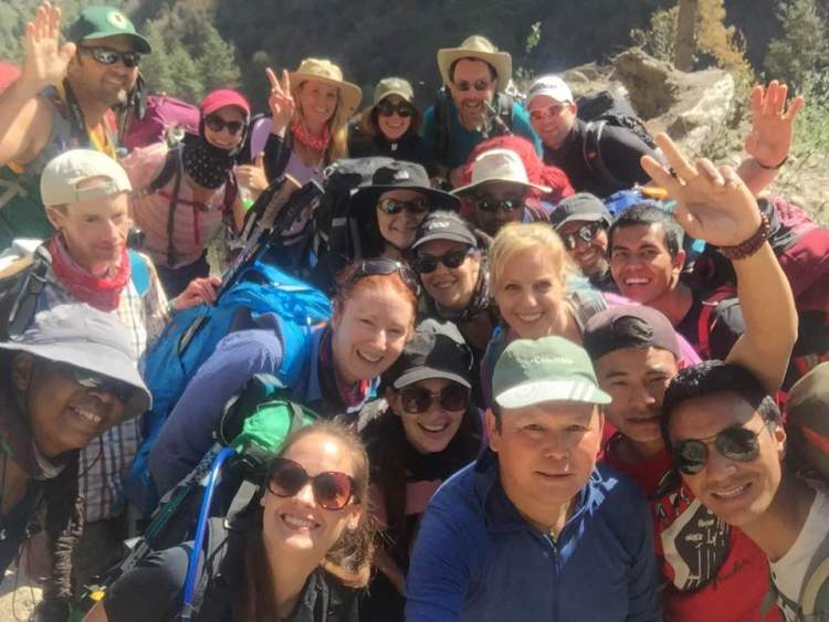 Marcy Fine from Mountain Brook trekked to Everest Base Camp.