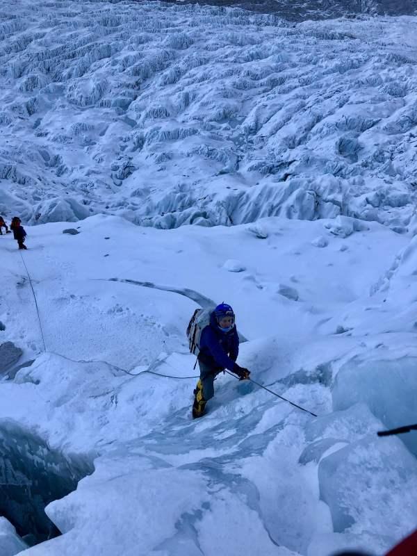 Kent Stewart in the Kumbu Ice Fall