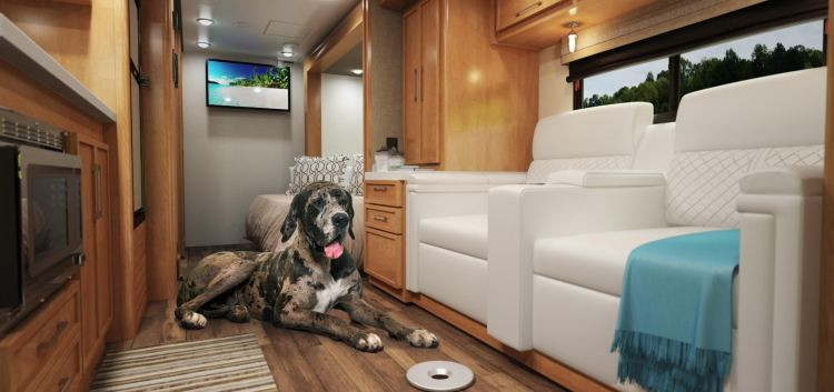 Look at the inside of this Tiffin Motorhomes RV. Doesn't it just make you want to hit the road?