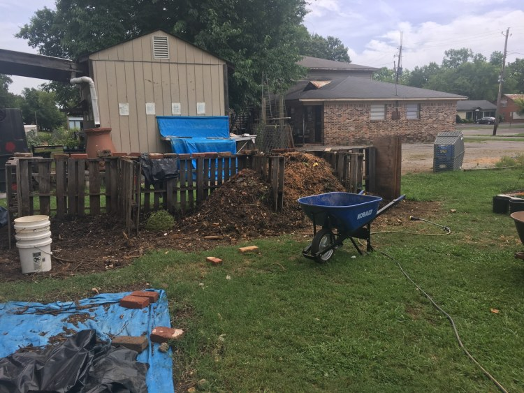 Compost is the heart of any good community garden.