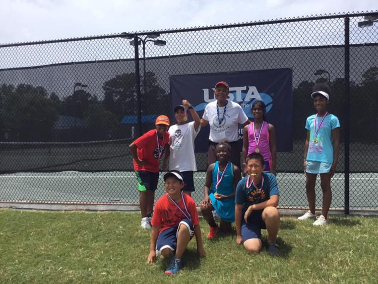 The 12 and Under team at the George Ward Tennis Center just won the Auburn State championship.