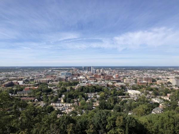 Downtown Birmingham as seen from Vulcan Park and Museum