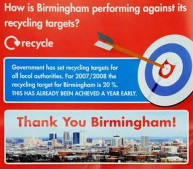 Recycling Leaflet Birmingham City Council