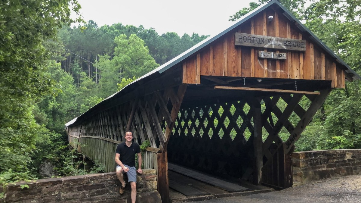 Road trip alert!  See 3 covered bridges on the Covered Bridge Trail in Blount County. Map and photos.