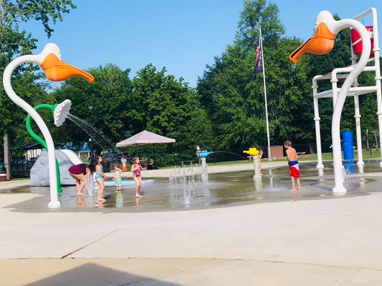 Springville's splash pad is a lot of fun, and there's a lot more to do in the park, too.