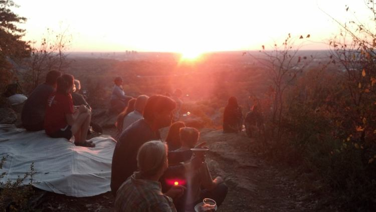 Check out this killer sunset spot overlooking Birmingham from Ruffner Mountain.