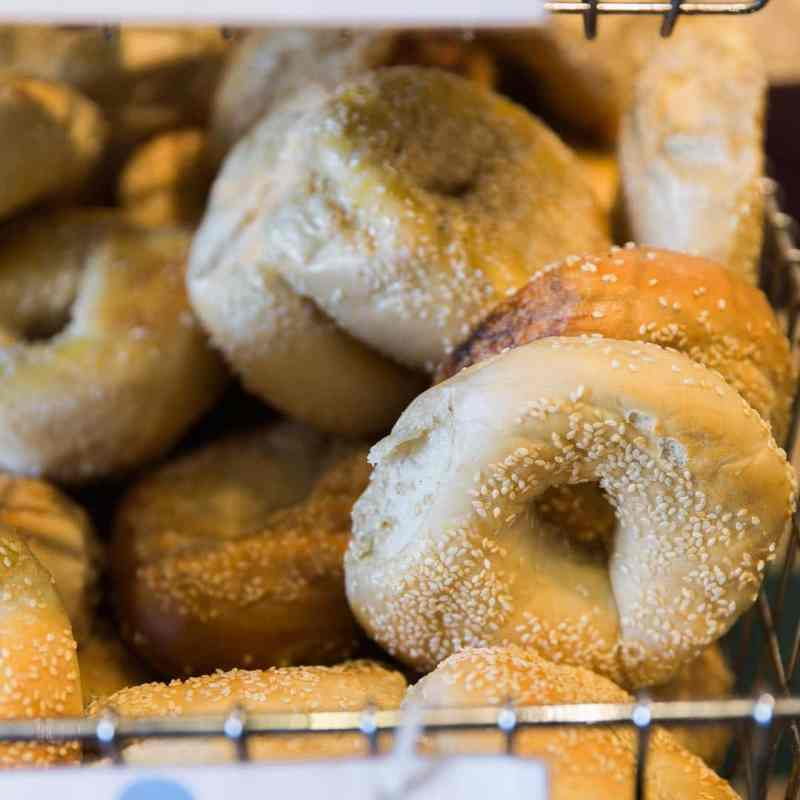 Sesame bagels at Cahaba Heights' Crestline Bagel.