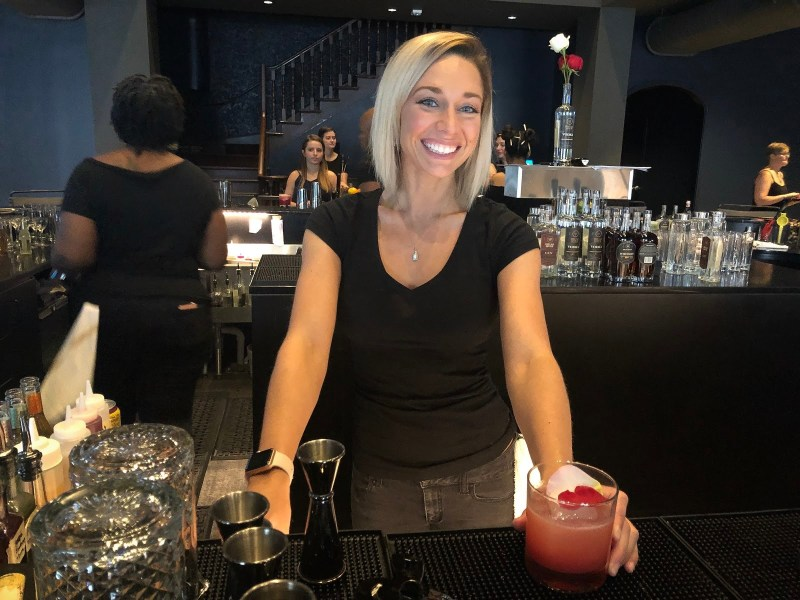 Bartender and cocktail