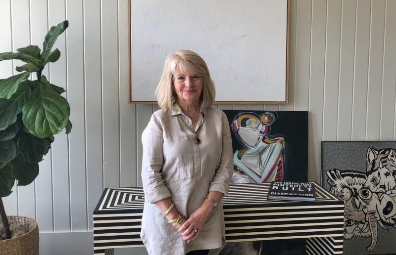Barbary Wheeler inside Gallery Broker's office