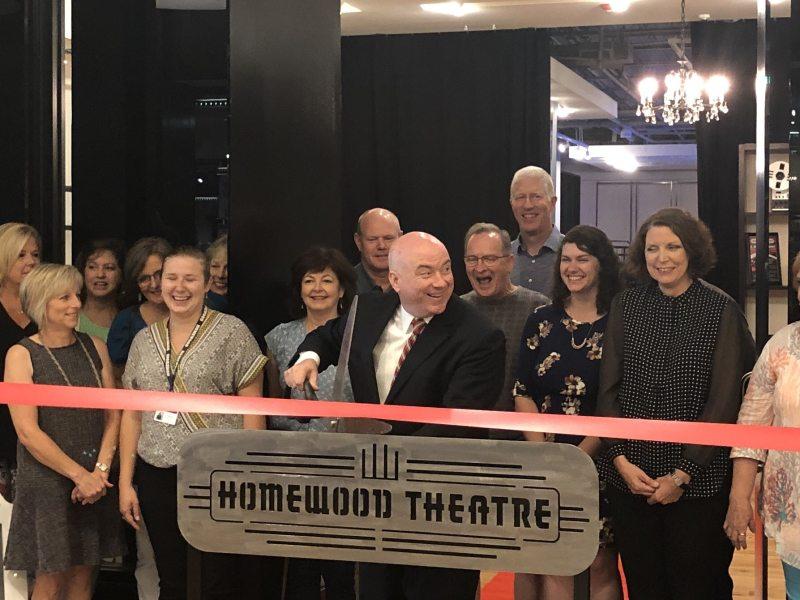 Ribbon cutting at new Homewood Theatre