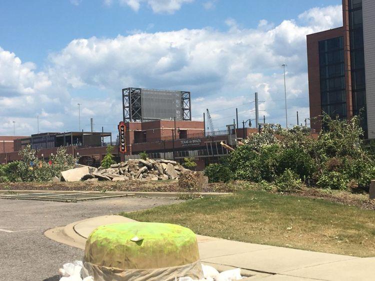 Demolition of the Protective Stadium site.