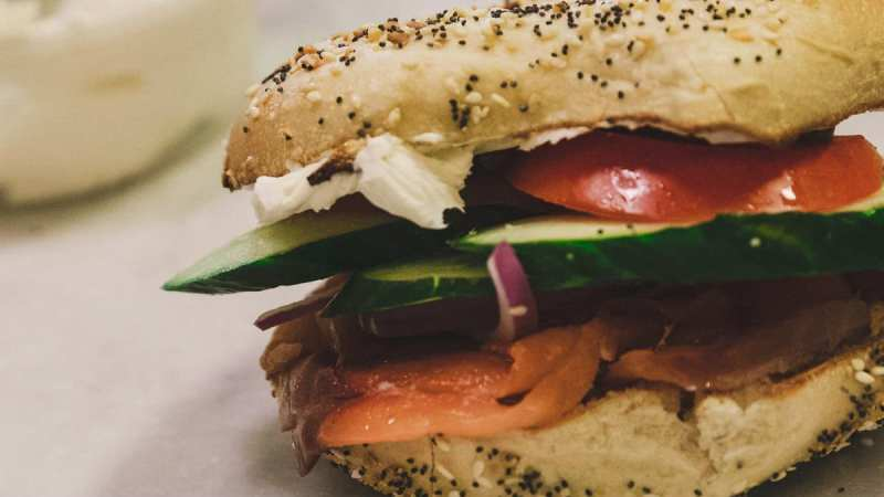 Everything bagel with lox and cream cheese from Cahaba Heights' Crestline Bagel.