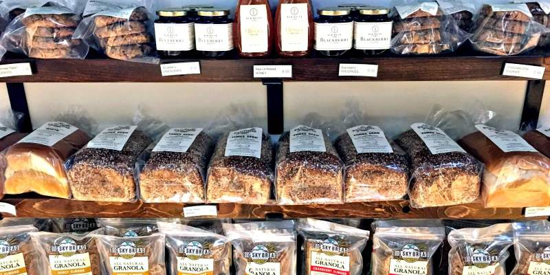 Granola, bread, cookies and more at Big Sky Bread Company.