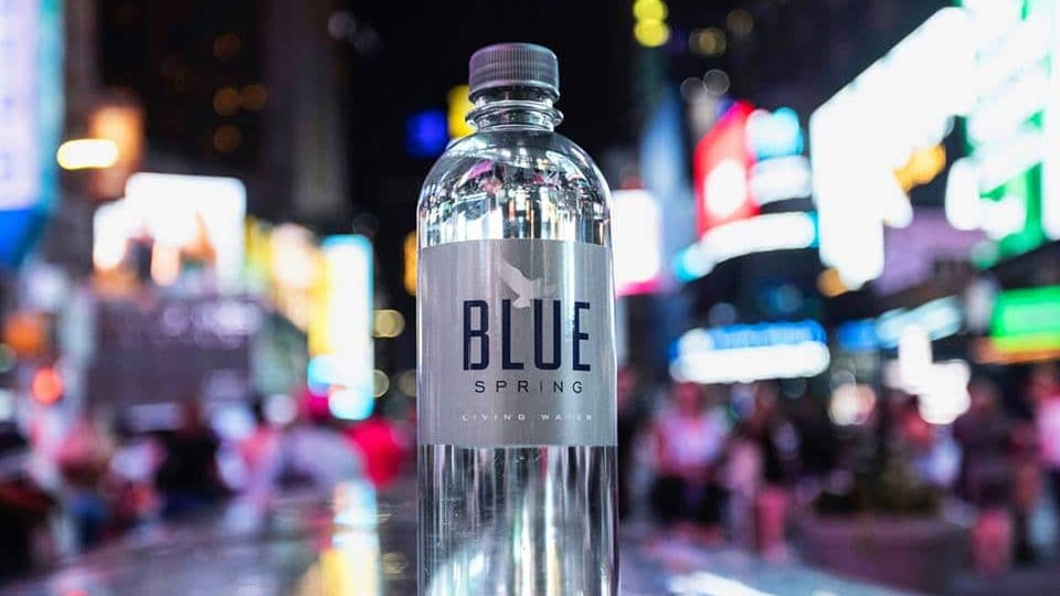 Drink local! Alabama's only natural spring bottled water Blue Spring Living Water in Blountsville