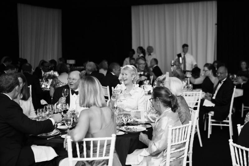 Guests having a good time at the Maestro's Ball.