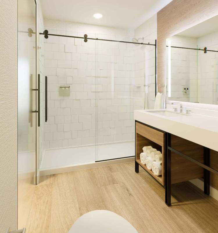 Fancy bathroom at The Sheraton