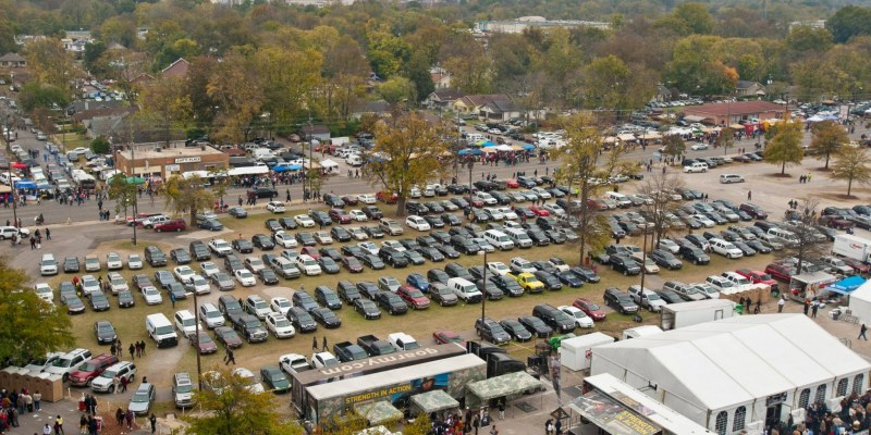 Parking at the Magic City Classic is tough