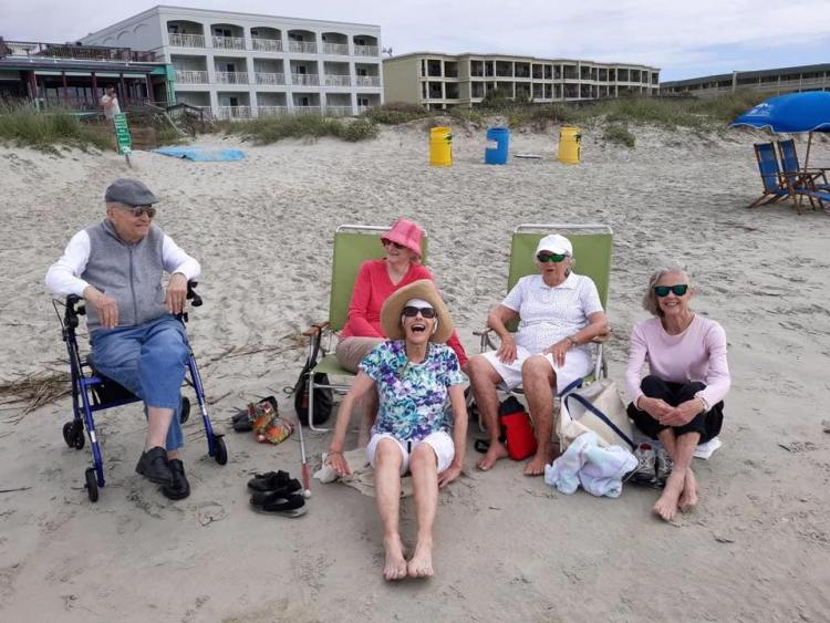 Somerby Mt. Pleasant residents enjoying the beach in South Carolina
