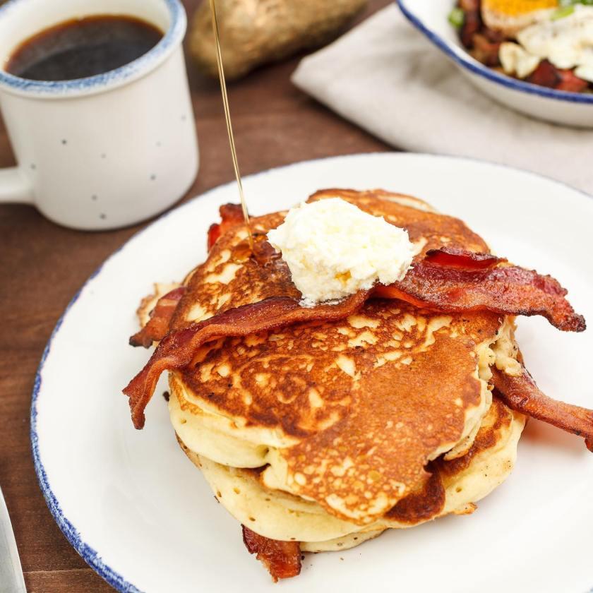 Birmingham, Mile End Deli, food, breakfast, pancakes, brunch