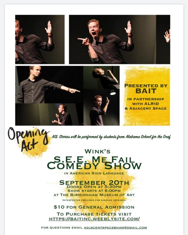 Wink SEE ME FAIL comedy show
