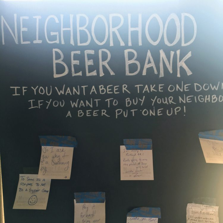 Neighborhood Beer Bank at True Story Brewing Company