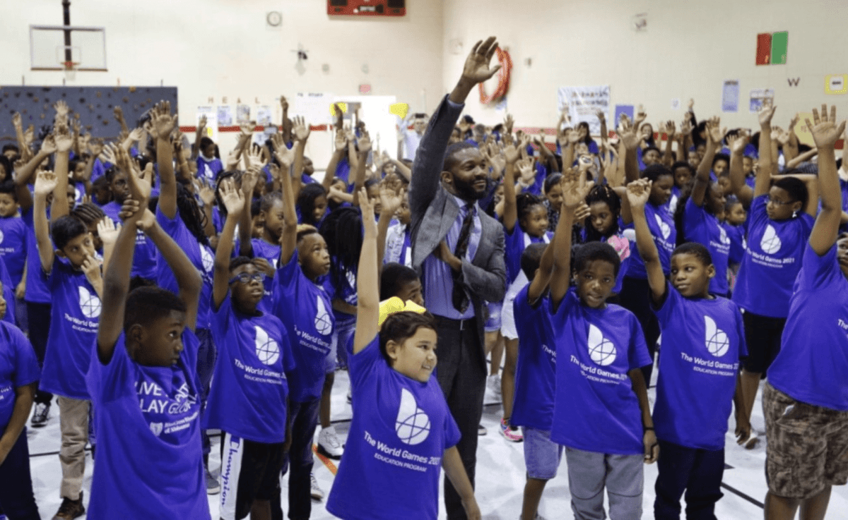 Students at Glen Iris Elementary kick off The World Games 2021 education program