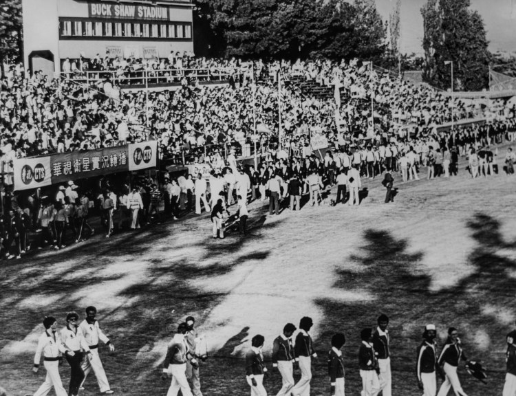 An old photo of ceremonies from World Games 1981