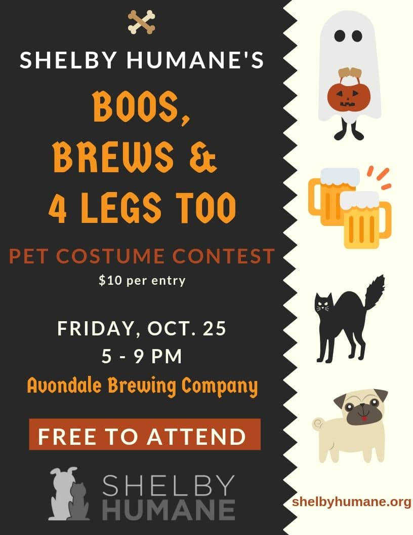 Shelby Humane's Boos, Brews & 4 Legs Too
