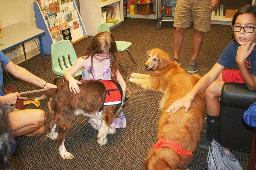 Children's Rehabilitation Service of Alabama Department of Rehabilitation Services includes therapy dogs
