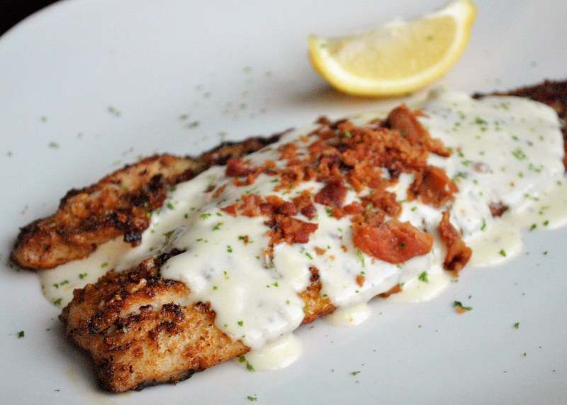 Bacon Pecan Redfish at Half Shell Oyster House