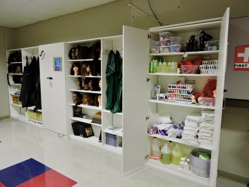 Closets at Carver High School