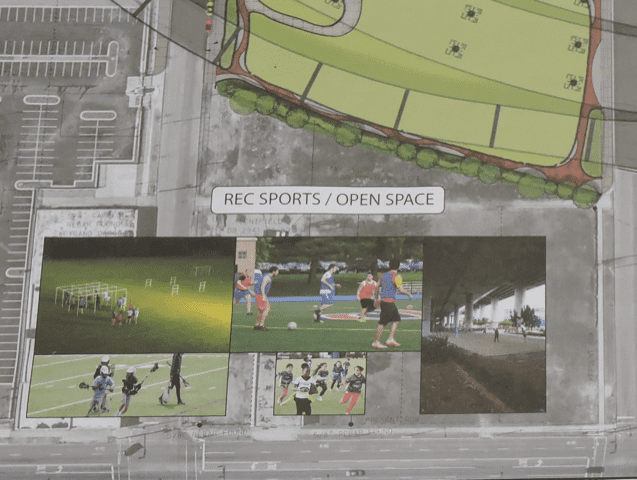 Open spaces for recreational sports at CityWalk BHAM