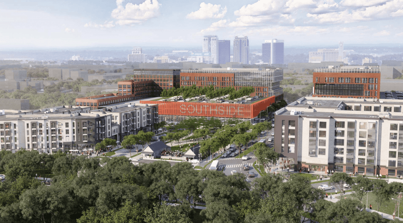 Architectural rendering of Southtown redevelopment