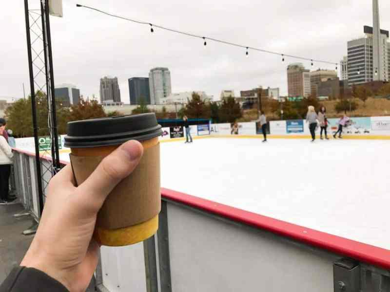 Birmingham, Boxcar Cafe, Railroad Park, Brrmingham ice rink, Brrrmingham Winter Adventure, ice slide, skating rink
