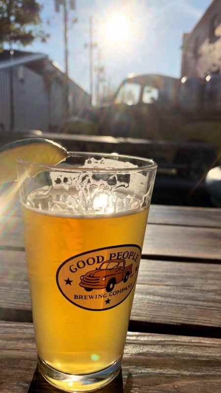 A beer at Good People Brewing Company.