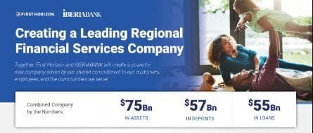 IBERIABANK merger by the numbers.