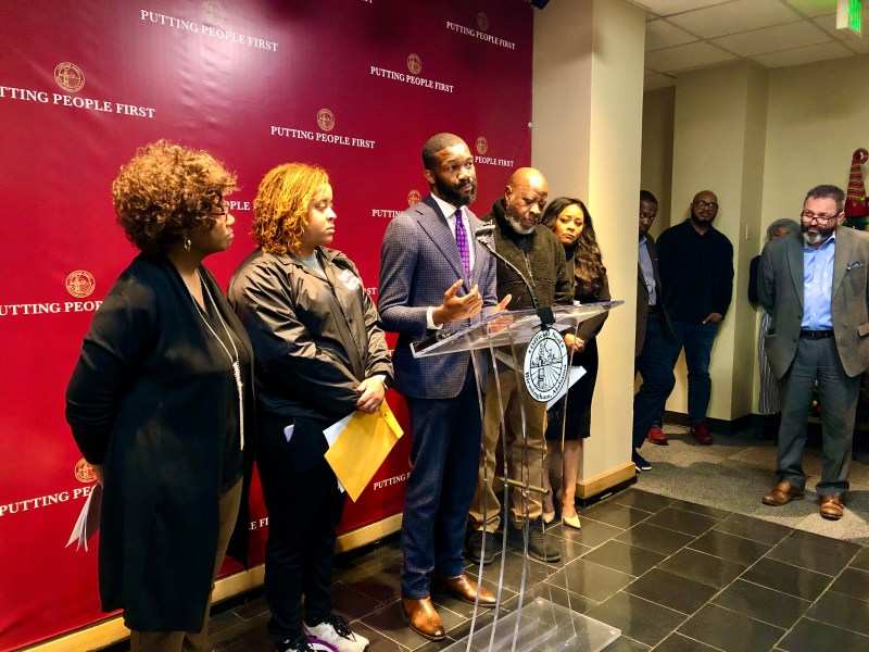 Randall Woodfin announcing Pardons for Peace