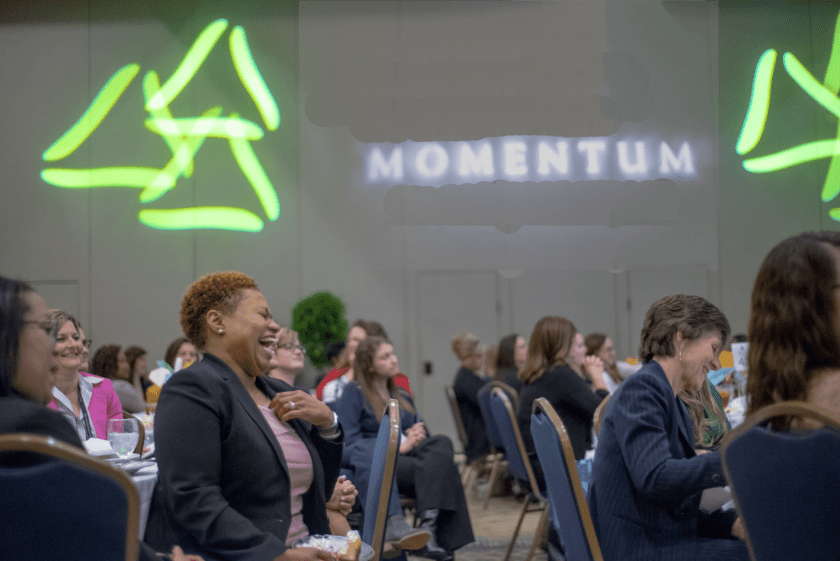 participants at a Momentum leadership conference