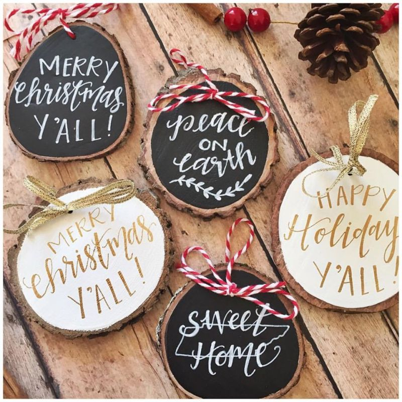 A spread of holiday ornaments from Stately Made