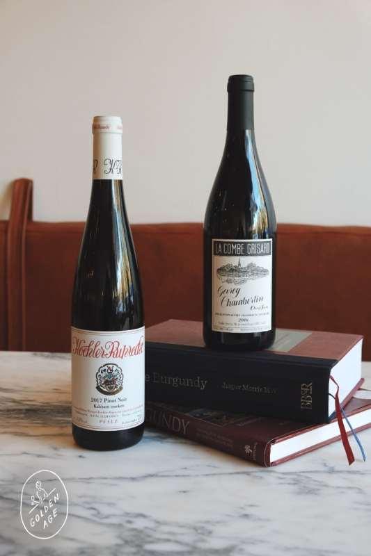 Two bottles of Pinot Noir.