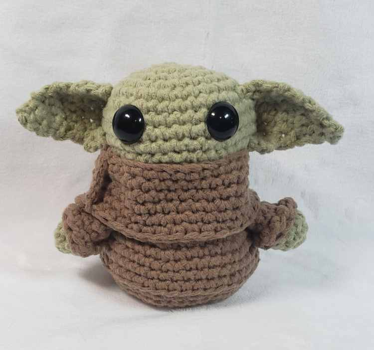 Birmingham, Etsy, BerryLafontaine, baby Yoda, Yoda, Star Wars, stocking stuffers, gifts, crochet