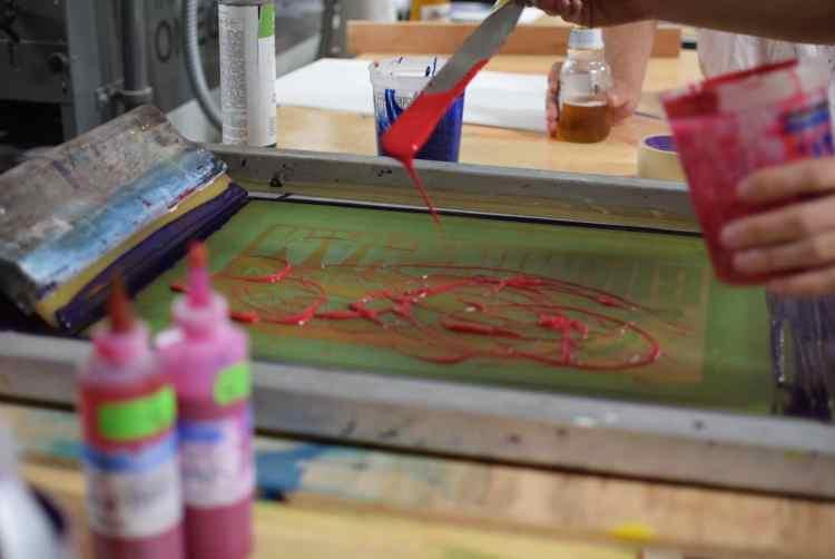 Birmingham, MAKEbhm, art classes, screen printing