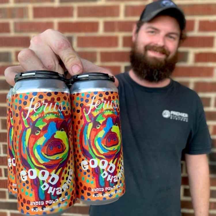 Birmingham, Trussville, Ferus Artisan Ales, beer, beer cans, local art, artist, art, beer can art