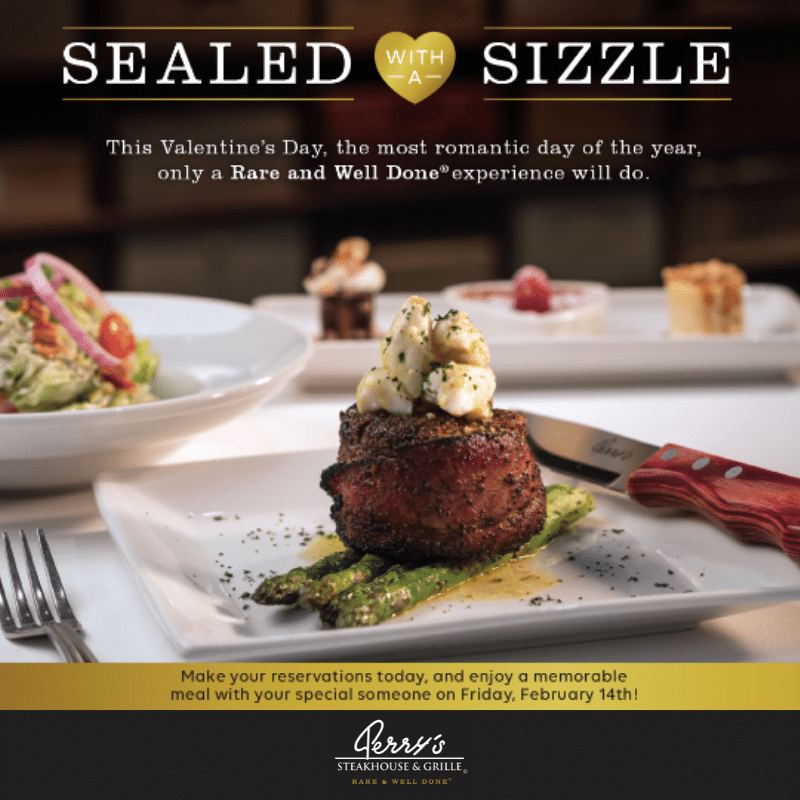 Celebrate Valentine's Day with Perry's Steakhouse & Grille
