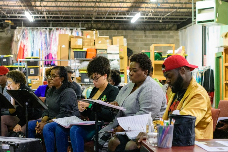 Red Mountain Theatre Company rehearses songs for Porgy and Bess