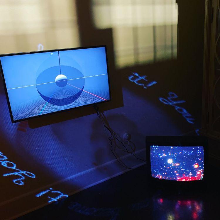 Birmingham visual-arts group VINEGAR video installation