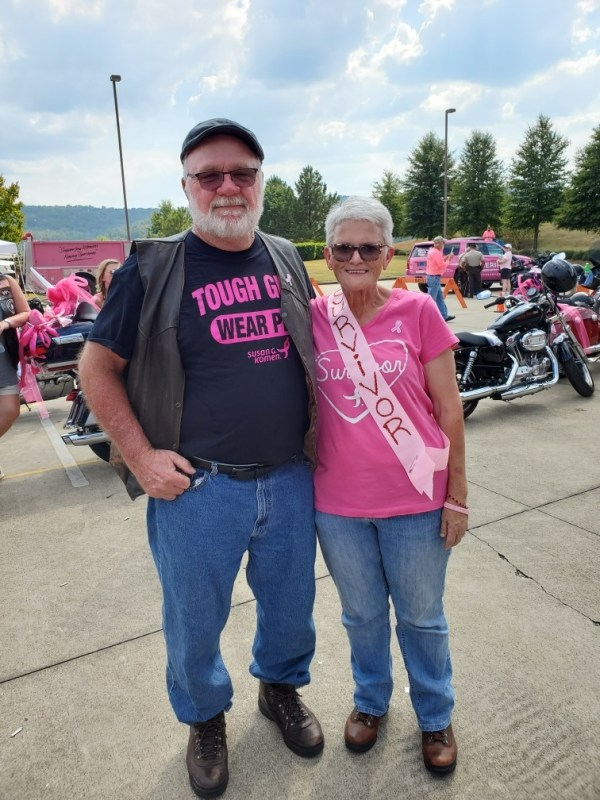Bikers for breast cancer research.