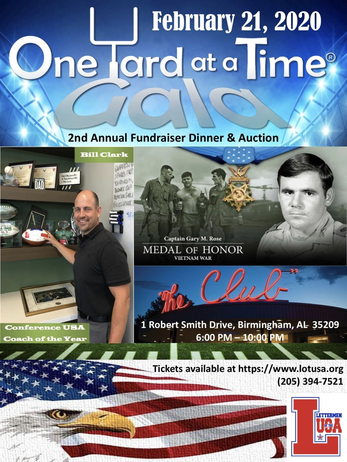 Lettermen of the USA One Yard at at Time Gala