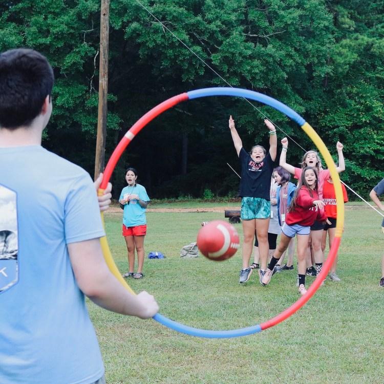 playing at camp